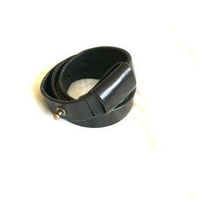 Madewell BLACK Leather Loop Belt